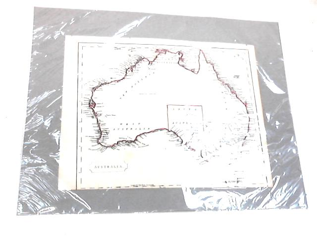 Framed Vintage Map of Autrailia by Unknown