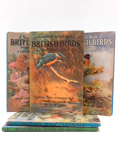 Set of 5 Ladybird Nature Themed Books by Various