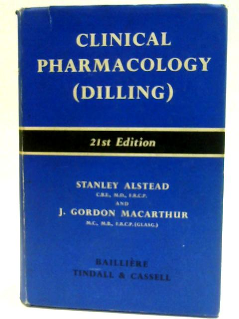 Clinical Pharmacology (Dilling) By Alstead, Stanley