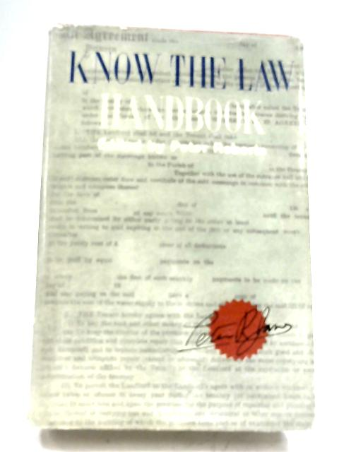 Know The Law Handbook By Peter Roberts (Editor)