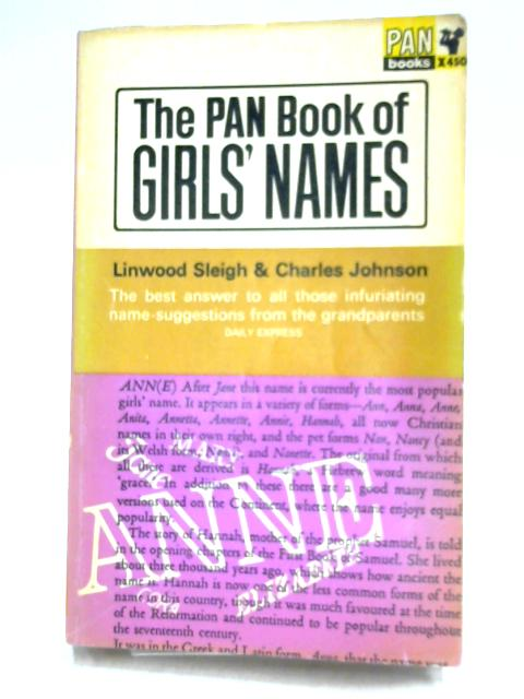 Details about Pan Book of Girls' Names (L  Sleigh & C  Johnson - 1966)  (ID:16636)