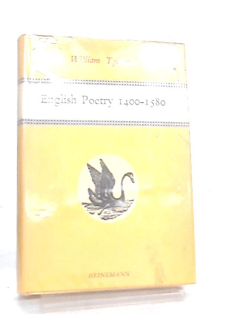 English Poetry, 1400-1580 (Poetry Bookshelf) By W. Tydeman