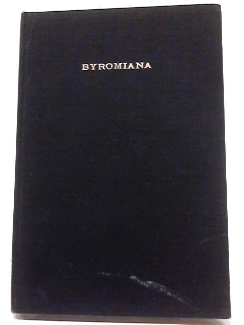 Previously Unpublished Byromiana Relating to John Byrom by W. H. Thomson