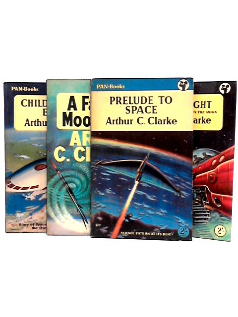 Set of 4 Arthur C. Clarke Vintage Pan Paperbacks by Arthur C. Clarke