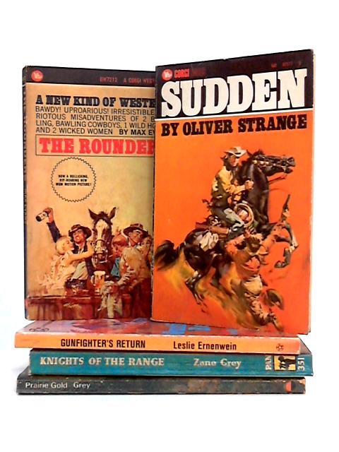 Set of 5 Vintage Western Paperbacks by Various