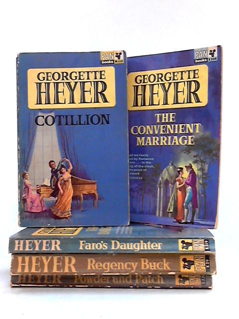 Set of 5 1960s Georgette Heyer Pan Paperbacks by Georgette Heyer