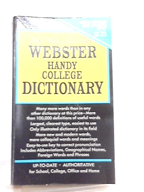 New American Webster's Handy College Dictionary by A. & L. Morehead