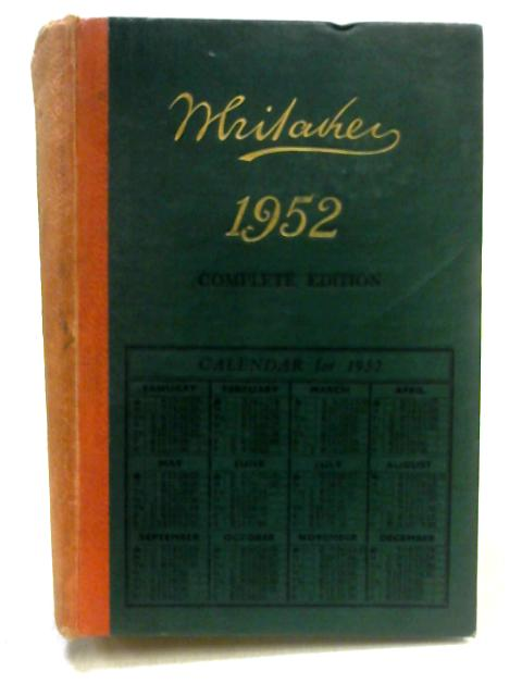 Whitaker's Almanac 1952 by Unknown