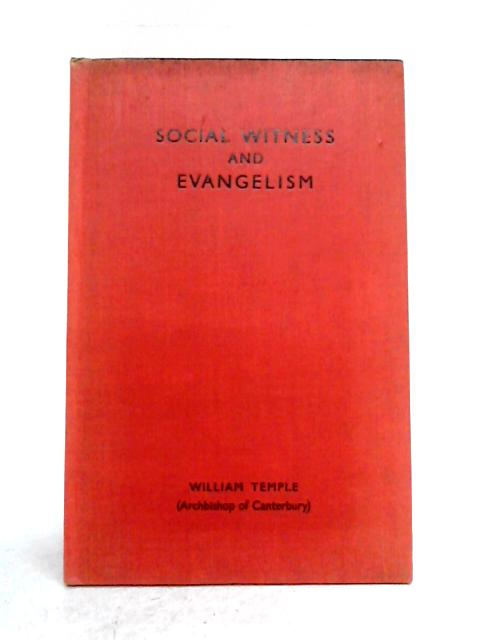 Social Witness and Evangelism by William Temple