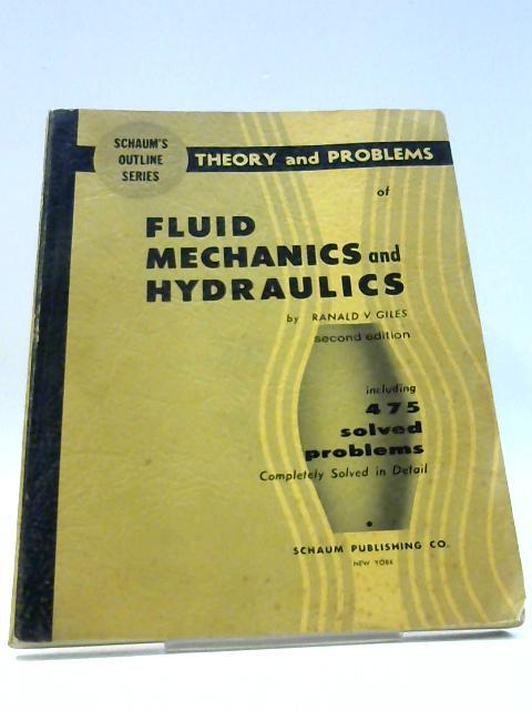 Fluid Mechanics and Hydraulics by Ranald V. Giles