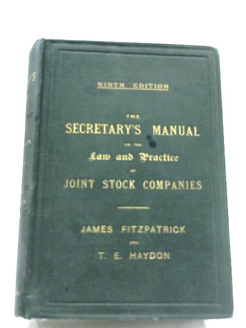 The Secretary's Manual by James Fitzpatrick