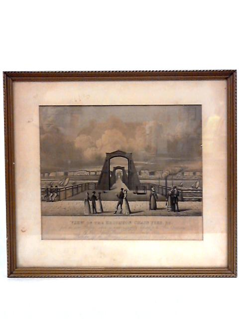 View of the Brighton Chain Pier Framed Vintage Book Plate by George Baxter