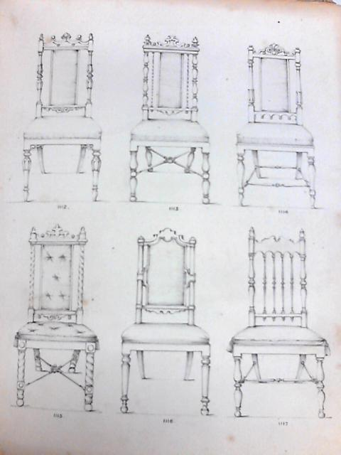 Vintage Book of Plates Concerning Pre 1900s Furniture Sketches by Anon