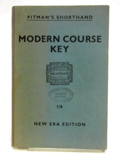 Modern Course Key by Isaac Pitman
