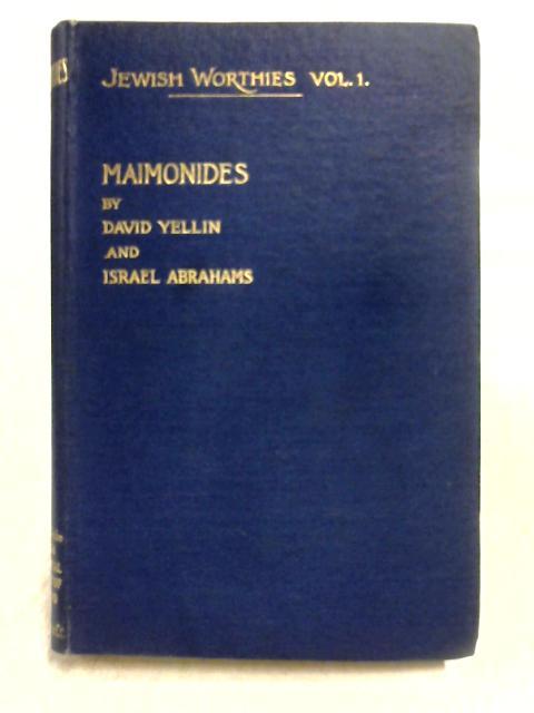Maimonides By David Yellin