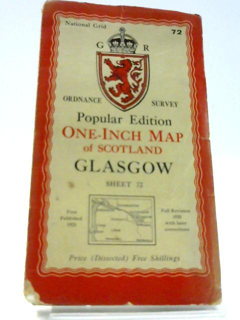 Ordnance Survey One Inch Map of Scotland Glasgow - Sheet 72 by Unknown