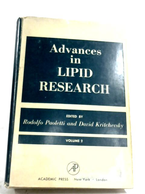 Advances In Lipid Research: Vol. 2 by R. Paolett (Editor)