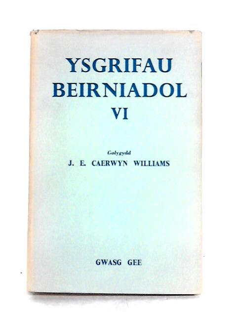 Ysgrifau Beirniadol Vi by J.E. Caerwyn Williams