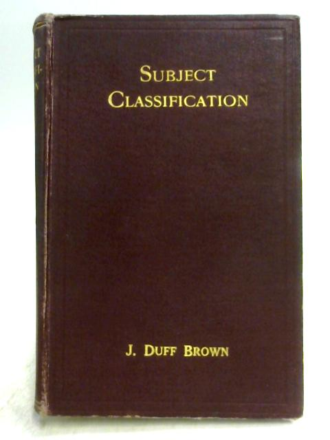 Subject Classification by J.D. Brown