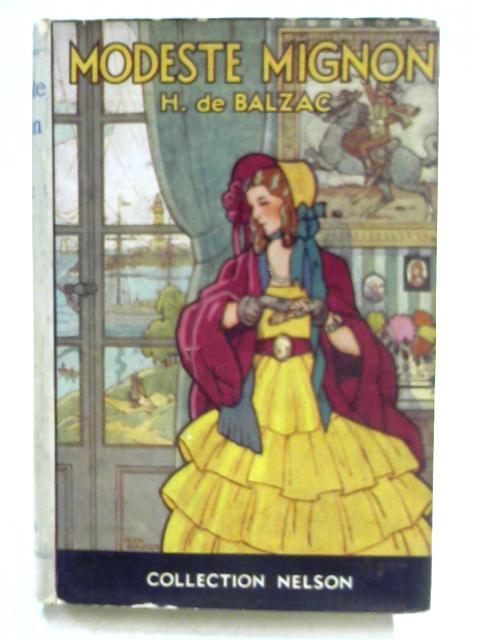 Modeste Mignon By Honore De Balzac