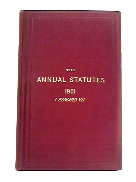 Statutes of Practical Utility Passed in 1901 By J.M. Lely