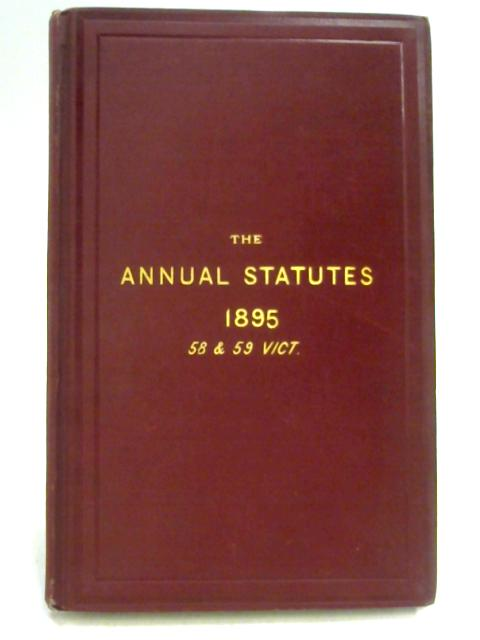 Statutes of Practical Utility Passed in 1895 By J.M. Lely
