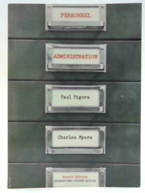 Personnel Administration By Paul Pigors