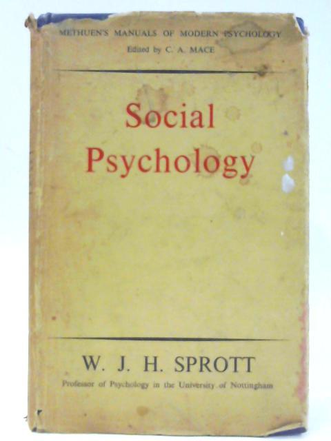 Social Psychology By Velda Marysprott