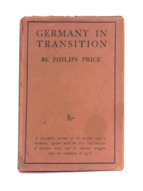 Germany in Transition By M. Philips Price