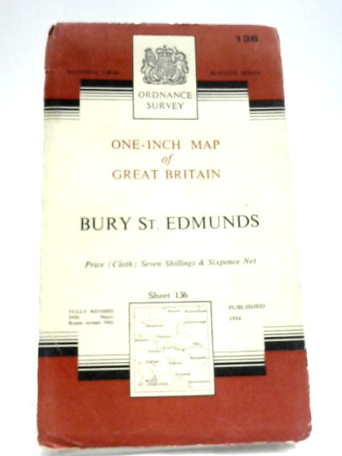 Ordnance Survey One Inch Map: Bury St Edmunds By Anon