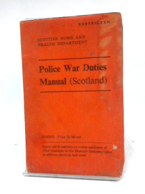 Police War Duties Manual By Home Office