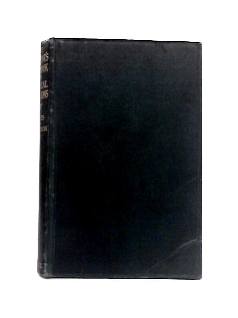 The Student's Handbook of Surgical Operations By Treves and Hutchinson
