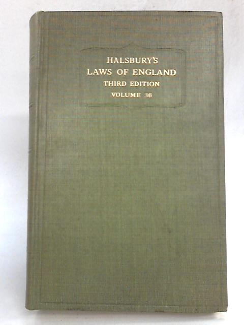 Halsbury's The Laws of England (Volume 36) By Viscount simonds