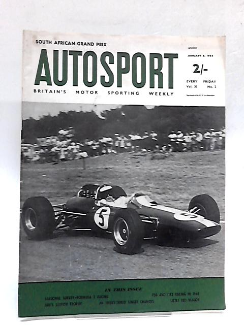 Autosport Magazine January 8 1965 Vol 30 No 2 By Various