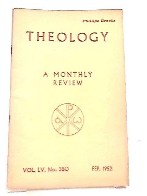 Theology, Vol. LV. No. 380 A Monthly Review By Various