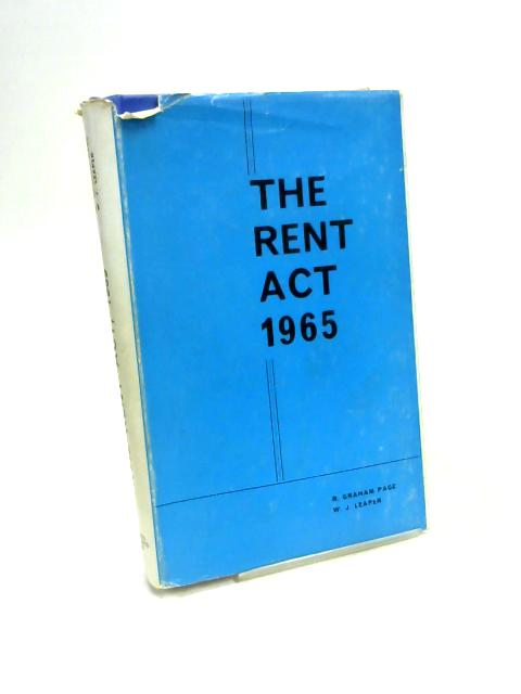 Rent Act, 1965 By Graham Page