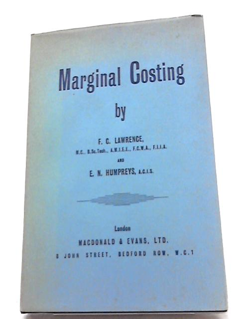 Marginal Costing By F.C. Lawrence