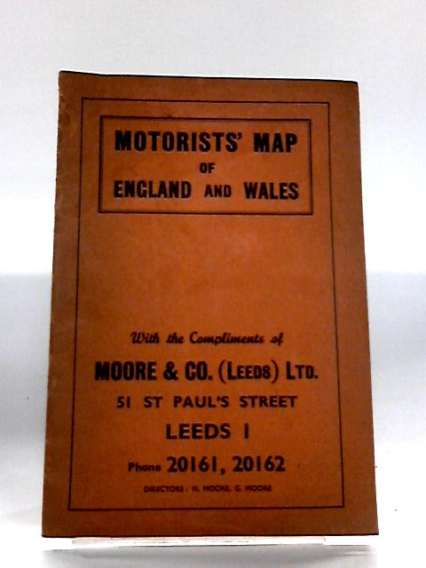 Motorist map england and wales By Anon