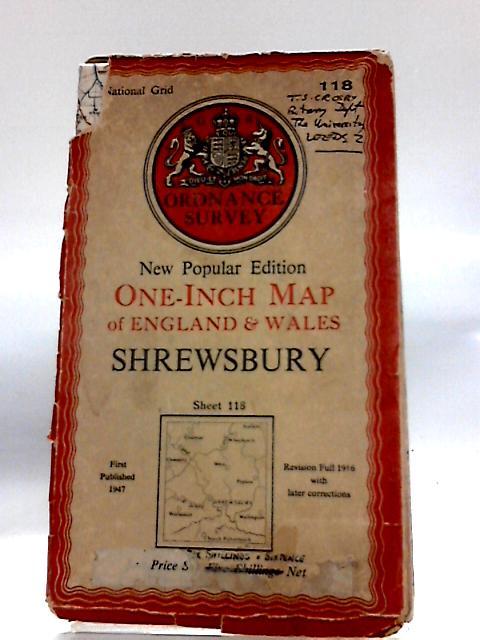 Ordnance Survey New Popular Edition One-Inch Map of England & Wales Shrewsbury Sheet 118 by Ordnance Survey: