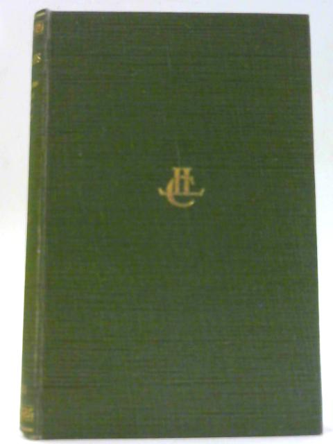 Aristophanes with the English Translation of Nebjamin Bickley Rogers. In Three Volumes 1. The Acharnians, the Knights, the Clouds, the Wasps. By Aristophanes.