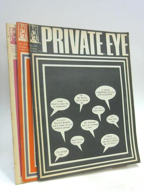 Private Eye Bundle No. 233 - 235 By Anon