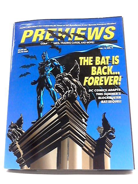 Previews Vol V #4 April 1995 By Previews