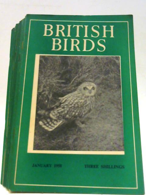 British Birds Vol LI Nos 1-12 & Supplement 1958 By Various