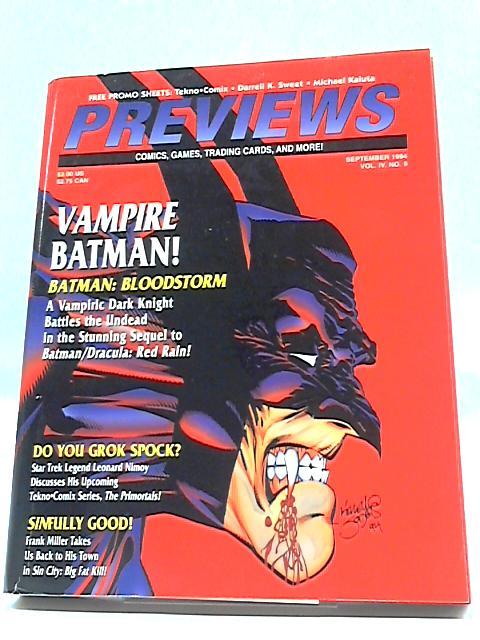 Previews Vol IV #9 September 1994 By Previews