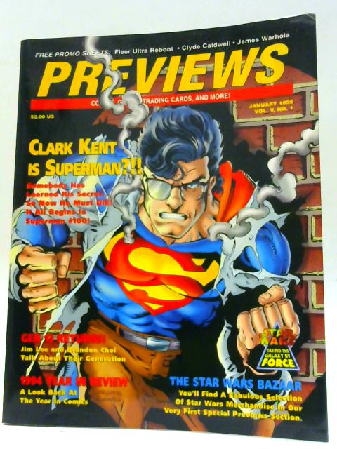 Previews Vol V No 1 January 1995 By Unknown