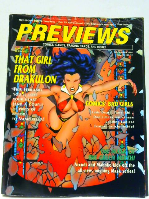 Previews Vol IV No 12 December 1994 By Unknown