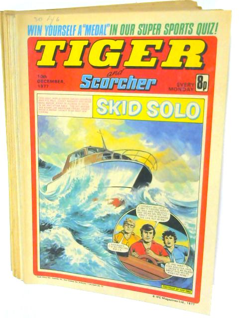 13 Tiger and Scorcher Magazines October, November and Devember 1977 By Unknown