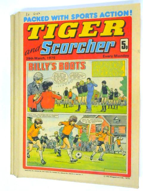 12 Tiger and Scorcher Magazines January-March 1975 By Unknown
