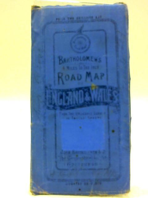 Driving Map Of England And Wales.Bartholomew S Four Miles To The Inch Road Map Of England And Wales New Series Sheet 7 Southern Wales By The Edinburgh Geographical Institute
