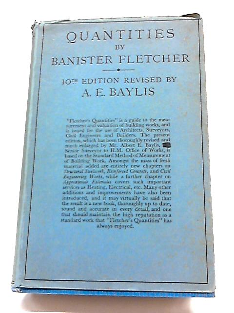 Quantities by Banister Fletcher